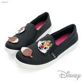 Disney 奇奇蒂蒂 歡樂貼~ 亮蔥 平底 休閒鞋-黑