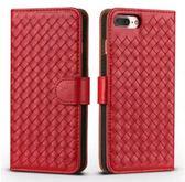蘋果 iPhone6/6S plus 5.5吋 潮Case編織紋翻蓋手機套