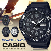 CASIO 時尚運動風 53mm/MRW-210H-1A/防水/CASIO/MRW-210H-1AVDF 現+排單!