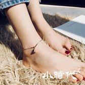 腳鏈 女性感韓版簡約學生森系復古腳踝鏈鈴鐺鈦鋼腳環腳繩