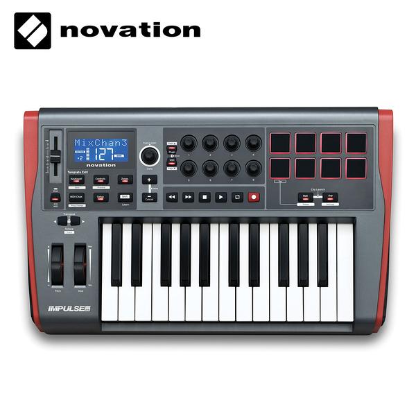 小叮噹的店- 25鍵 USB MIDI 主控鍵盤 Novation Impulse