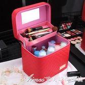 大容量化妝包雙層多功能大號手提化妝品箱多層女特大號收納盒超大艾美時尚衣櫥