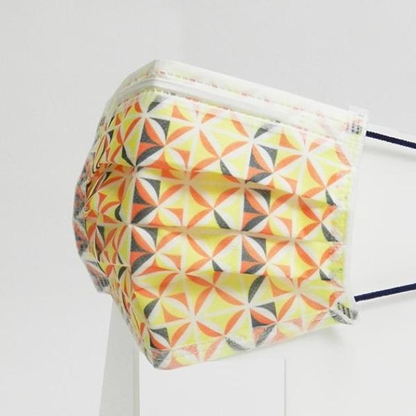 宏瑋 節慶 卡通 圖案 醫療口罩 窗花橘 成人用 5片/包 台灣製造