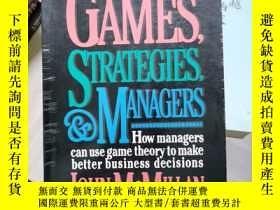 二手書博民逛書店Games,罕見Strategies, & Managers 英文原版 Y260663