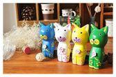 【想購了超級小物】居家飾品-北歐原木貓4入組/手繪木貓/ 動物擺件套組 / 原木飾品擺件