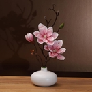 仿真花 仿真玉蘭花套裝陶瓷花瓶桌面擺放花...