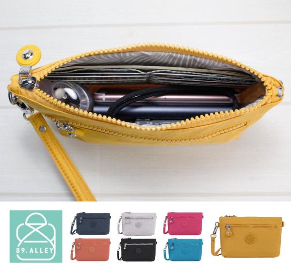 側背包 水洗尼龍雙面拉鏈卡片款手掛包 斜背包 護照包 女包 89.Alley-HL-8933