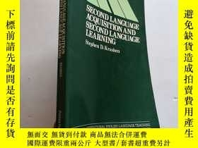二手書博民逛書店Second罕見Language Acquisition and Second Language Learning