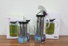 摩登花茶壺 900ml 泡茶壺 高硼矽耐熱玻璃壺  泡茶壺 可微波瓶身(上蓋不可微波) 沏茶壺