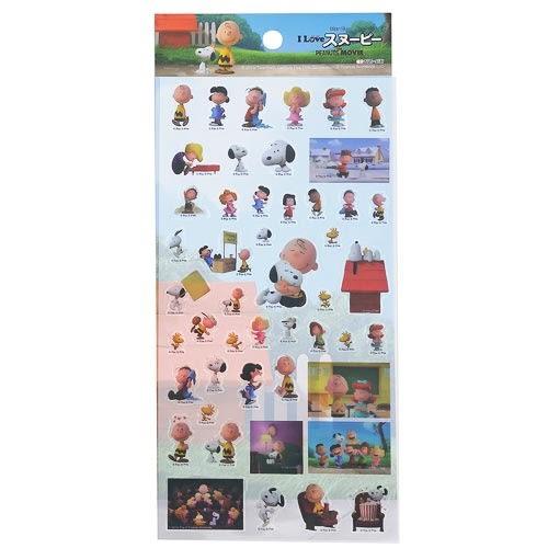 《sun-star》SNOOPY-史努比 The Peanuts Movie系列透明裝飾貼紙(好朋友集合)★funbox生活用品★ OP47869