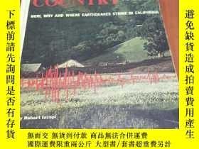 二手書博民逛書店EARTHQUAKE罕見COUNTRY, 1964英文原版,精裝