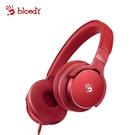 新品上市【Bloody】雙飛燕 M510 魔磁雙震模高質音樂耳機(紅 )-贈價值299 耳機展架