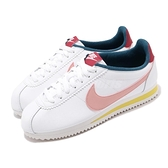 Nike 阿甘鞋 Wmns Classic Cortez Leather 白 粉紅 女鞋 復古慢跑鞋 運動鞋 粉色系 【ACS】 807471-114