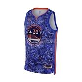 Nike 球衣 Stephen Curry NBA Jersey 藍 橘 金州勇士 籃球【ACS】 DA6955-405