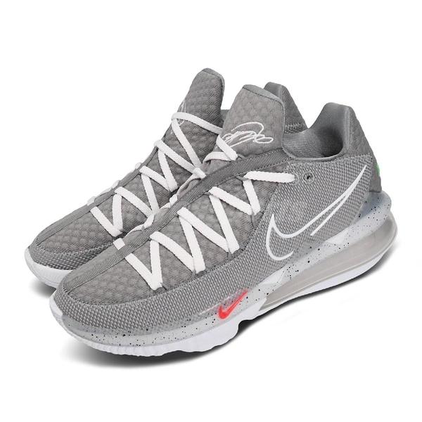 【六折特賣】Nike 籃球鞋 Lebron XVII Low EP Particle Grey 17 灰 白 男鞋 低筒 氣墊 運動鞋【ACS】 CD5006-004