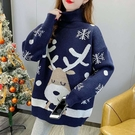 *ORead*聖誕小鹿寬鬆針織衫套頭毛衣(2色F碼)
