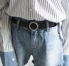 女皮带 百搭無孔時尚裝飾牛仔褲韓國網紅ins風黑色腰帶潮【快速出貨八折下殺】