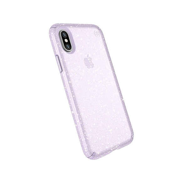 [8美國直購] Speck iPhone Xs/X Case, Clear Glitter Protective Ultra Thin Slim Hard Anti Scratch Presidio