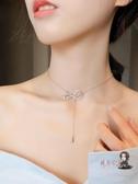 項鍊 蝴蝶結項鍊女潮網紅簡約短款輕奢小眾設計鎖骨鍊氣質頸
