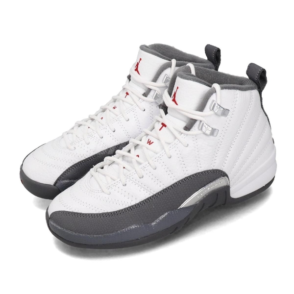 Nike Air Jordan 12 Retro GS Dark Grey 灰 白 女鞋 大童鞋 籃球鞋 XII 12代 【PUMP306】 153265-160