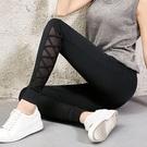 運動褲 運動褲女春秋夏薄款2021新款休閒瑜伽長褲寬鬆束腳小腳潮黑色褲子