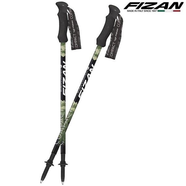 『VENUM旗艦店』FIZAN 義大利 超輕三節式登山杖 2入特惠組 FZS20.7102.PGN Pivot綠