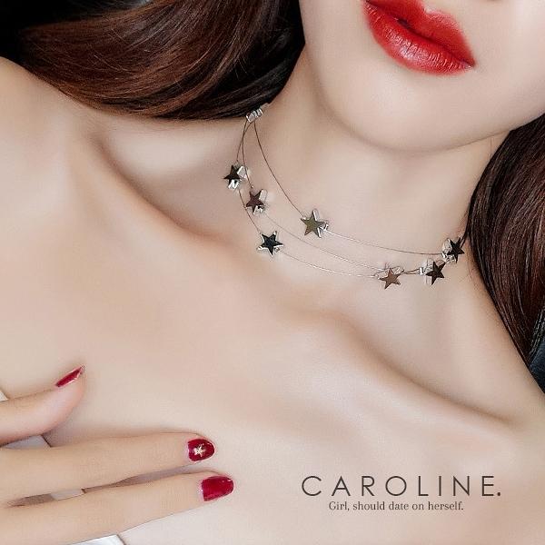 《Caroline》★韓國熱賣雙層星星項鍊 甜美浪漫風格時尚流行項鍊70051