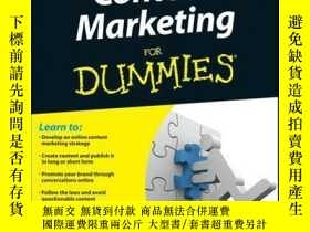 二手書博民逛書店Content罕見Marketing For DummiesY410016 Susan Gunelius I