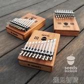 拇指琴 雙層20音拇指琴seeds全單板卡林巴手指琴kalimba初學入門樂 遇見初晴