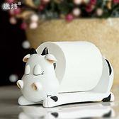 方抽紙盒奶牛可愛擦手廁所浴室餐廳台面創意紙巾座擺件架桌衛生間    聖誕節歡樂購
