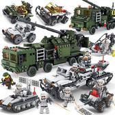 (超夯大放價)拼裝積木 積木軍事野戰航母警察男孩子3拼裝益智6歲10兒童組裝玩具XW
