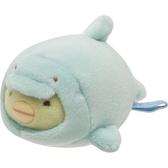 San-X 角落生物 造型裝扮娃娃 迷你沙包玩偶 絨毛玩偶 角落小夥伴 企鵝 鯊魚裝 薄荷綠