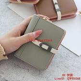 莫蘭迪色經典款折疊卡包錢包一體休閑韓版短錢包【CH伊諾】