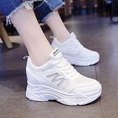 增高鞋 老爹鞋ins潮2021新款內增高小白鞋女鞋春季百搭厚底鬆糕運動鞋子 618促銷