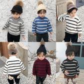 寶寶毛衣冬裝半高領套頭加絨嬰兒保暖上衣男童加厚針織衫兒童衣小 藍嵐