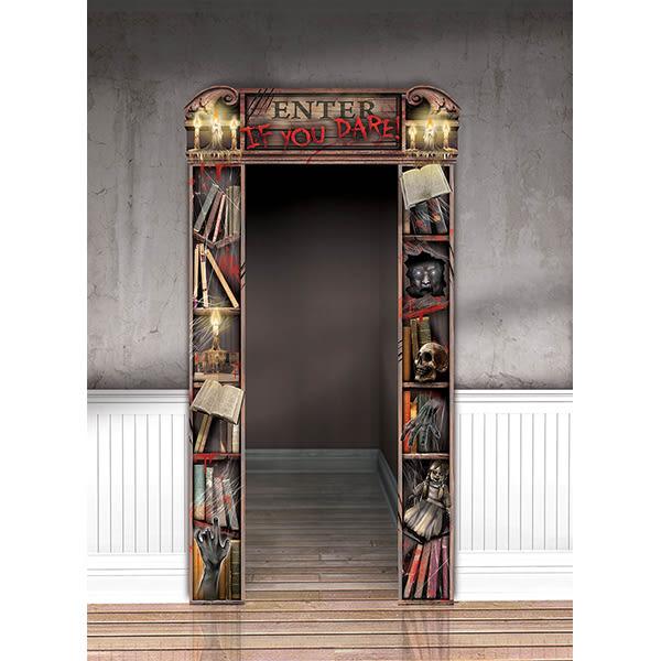 萬聖節 佈置 裝飾 紙板門框裝飾-萬聖節