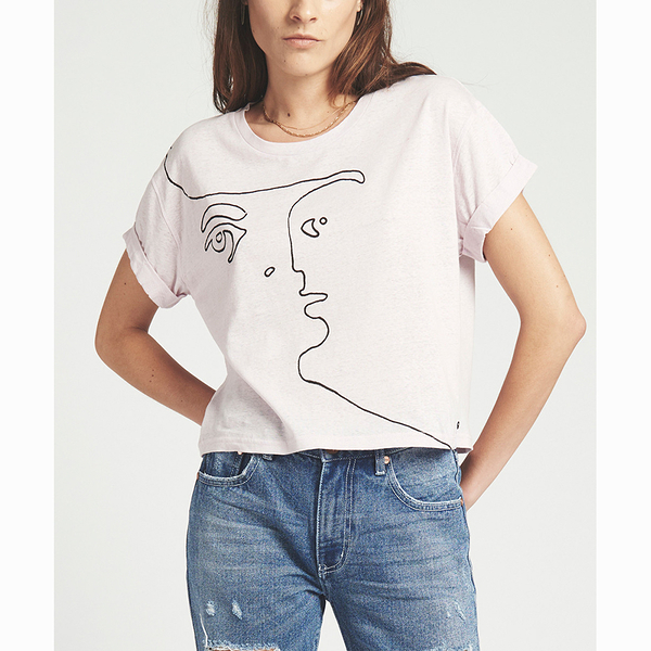 OneTeaspoon T恤- SUPIMA SUPIMA LINEN LABYRINTH TEE-女(顏色)