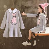 年終盛典 童裝女童秋裝套裝連衣裙2018新款韓版潮時髦兒童公主洋氣女孩裙子