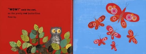 【麥克書店】WOW! SAID THE OWL /英文繪本《主題:顏色 .藝術》