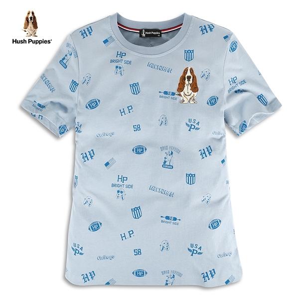 Hush Puppies T恤 男裝美式休閒滿版印花T恤