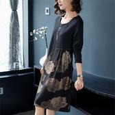 大尺碼洋裝春裝新款大碼女胖妹妹寬鬆顯瘦中長款連衣裙 mc7537『東京衣社』