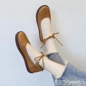 娃娃鞋 單鞋女百搭日繫小皮鞋百搭韓版平底學生大頭軟妹娃娃鞋潮  瑪麗蘇