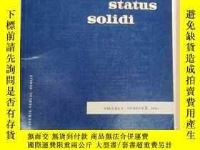 二手書博民逛書店physica罕見status solidi volume 4 number 3 1964 (P2513)Y1