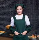 .正韓時尚可愛圍裙工作服美甲店美容師母嬰...