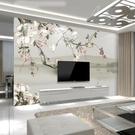 電視背景墻5d立體中式現代簡約...
