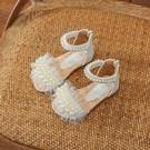 女童涼鞋 女童涼鞋公主鞋夏季寶寶涼鞋小女孩羅馬兒童學生白色舞蹈鞋-Ballet朵朵