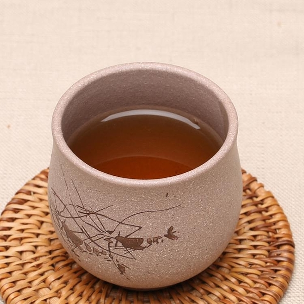 [超豐國際]宜興原礦紫砂手工制作茶具段泥功夫茶杯品茗小口杯蝦趣主人杯1入