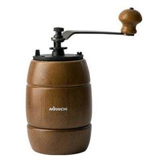 金時代書香咖啡 AKIRA 正晃行 手搖磨豆機-鑄鐵刀 復古造型 深木色 A-16B