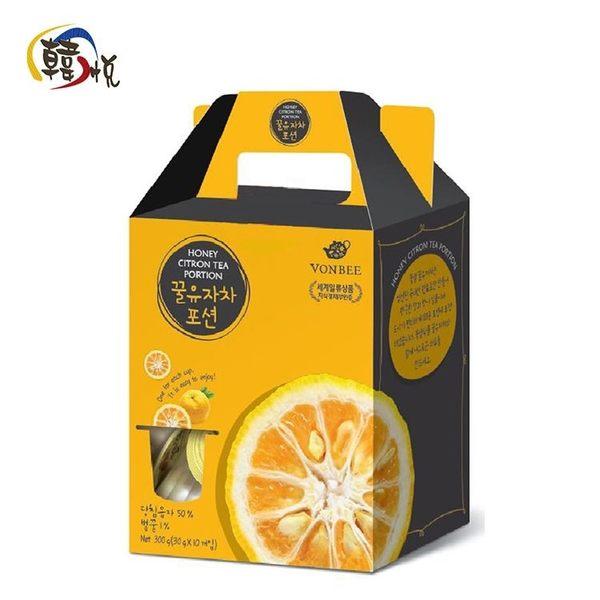 【韓悅】韓國VONBEE--柚子茶球禮盒(10入)(韓國原裝進口)
