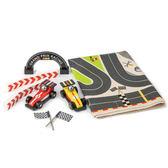 【美國Tender Leaf Toys】極速賽車遊戲組(積木車遊戲墊組合)